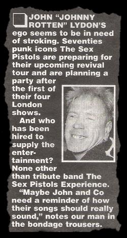 Sex pistols experience tour dates